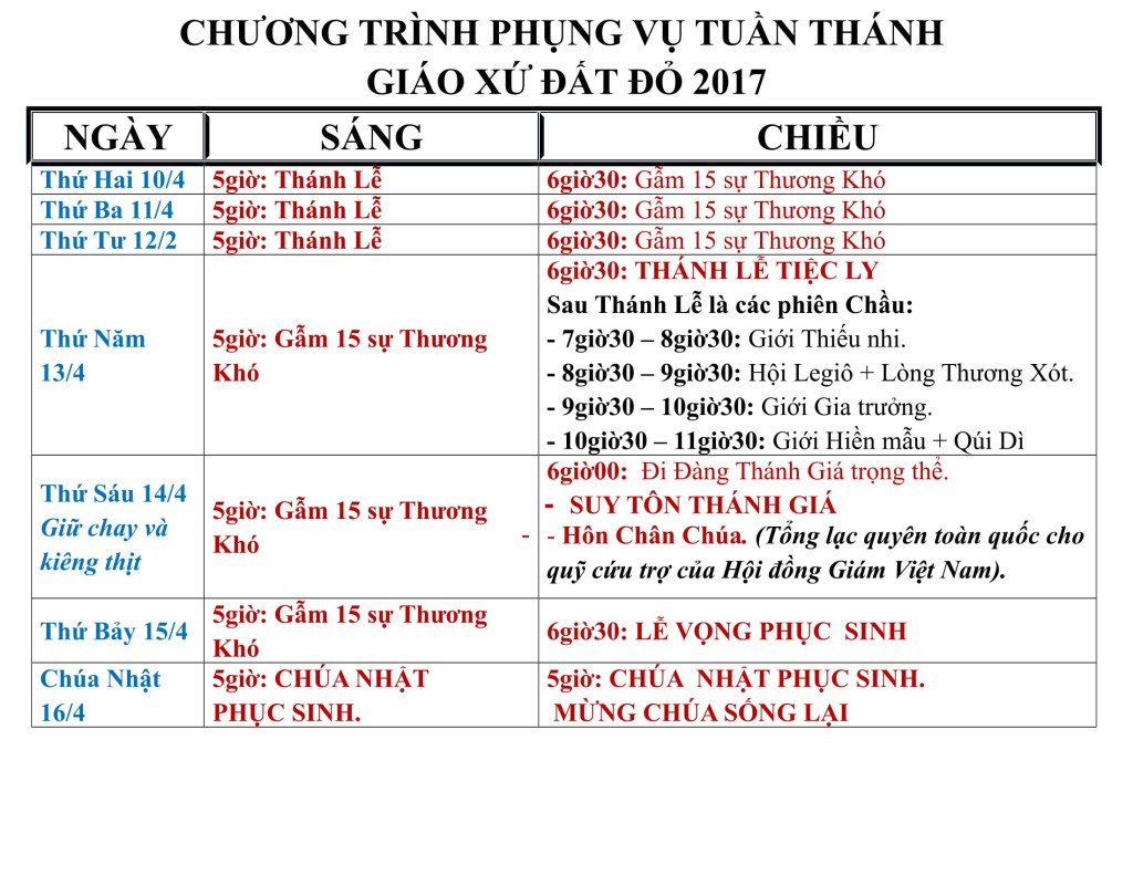 chuong trinh phung vu Tuan Thanh 2017 GxDD-1