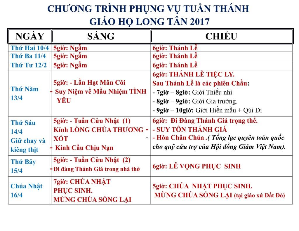 chuong trinh tuan thanh giao ho Long Tan 2017-1