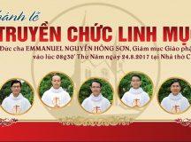 TRỰC TUYẾN: Thánh lễ truyền chức linh mục Giáo phận Bà Rịa 2017